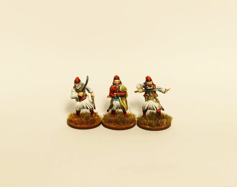 GWI004 Greek Rebels with swords and yatagans  28mm Resin miniatures