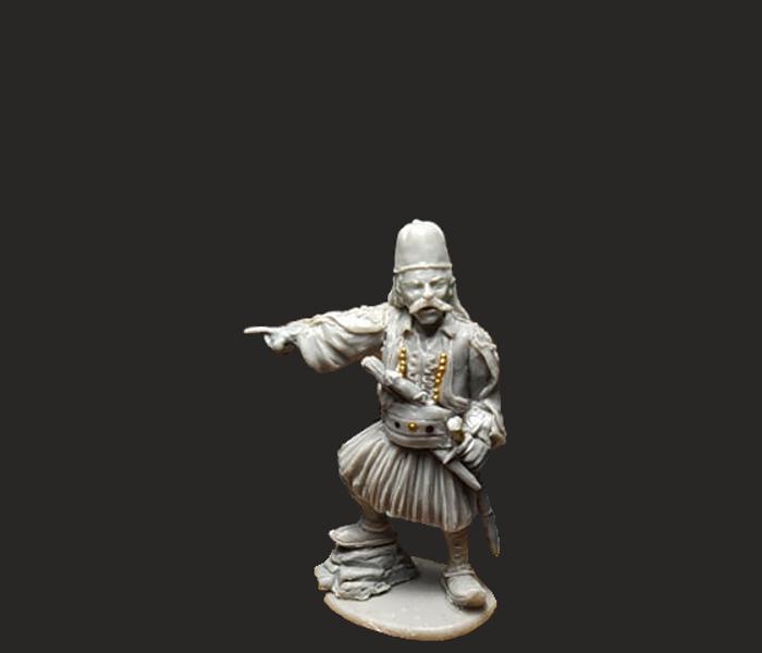 GWI006  General Karaiskakis Greek Rebels Commander 28mm Resin miniature